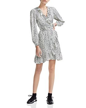 Maje - Rosana Ruffled Animal-Print Wrap Dress
