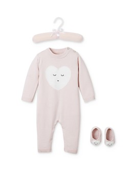 Elegant Baby - Girl's Sleepy Heart Coverall & Booties Set, Baby - 100% Exclusive