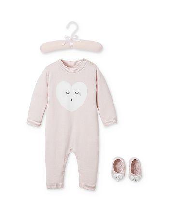 Elegant Baby - Girl's Sleepy Heart Coverall & Booties Set, Baby - 100% Exclusive