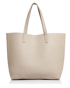 AQUA - Pebbled Leather Tote - 100% Exclusive