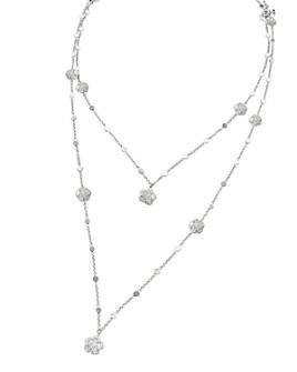 """Pasquale Bruni - 18K White Gold Figlia dei Fiori Diamond Two-Row Necklace, 33"""""""