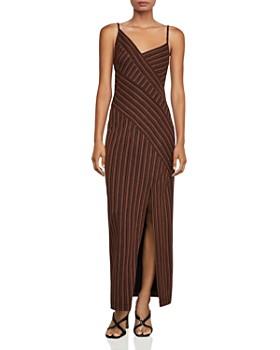 BCBGMAXAZRIA - Directional-Stripe Maxi Dress
