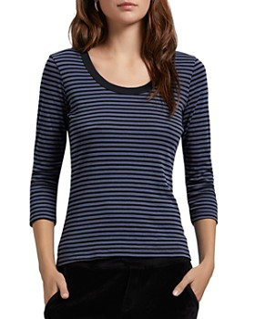 Michael Stars - Andy Striped Scoop Neck Tee