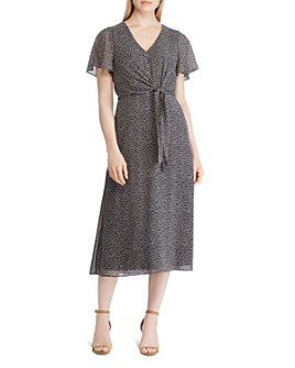 Ralph Lauren - Ditsy Leaves Georgette Midi Dress
