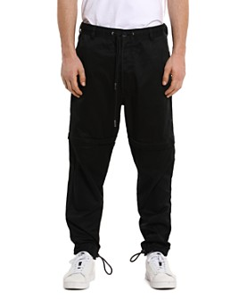 Diesel - P-Cashort Mixed-Media Regular Fit Convertible Pants