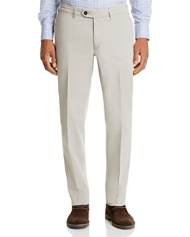 Canali - Cotton Stretch Garment-Washed Regular Fit Chino Pants