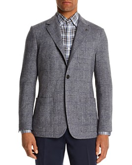 Canali - Plaid Slim Fit Jersey Jacket
