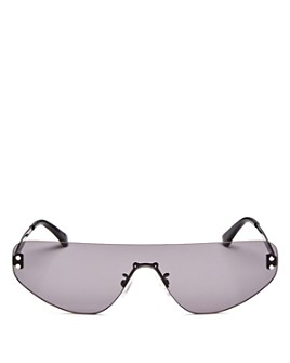 McQ Alexander McQueen - Unisex Flat Top Shield Sunglasses, 99mm