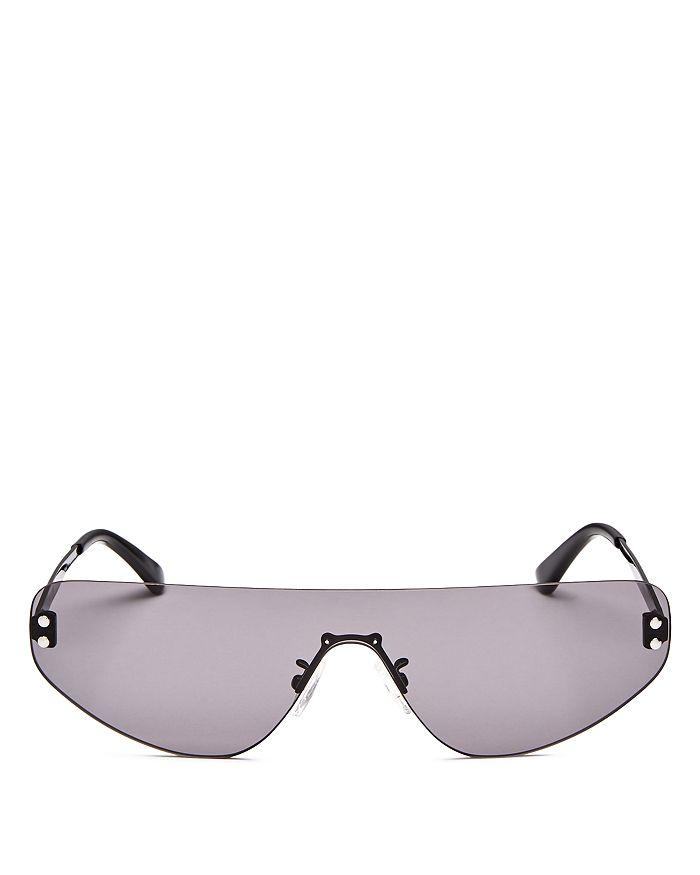 McQ Alexander McQueen - Unisex Flat Top Shield Sunglasses, 99mm
