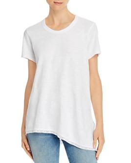 Wilt - Asymmetric Lace-Hem Tunic Tee