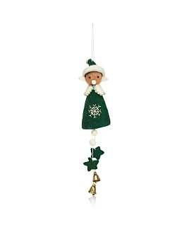 TO THE MARKET - Felt Elf Jingle Bell Ornament