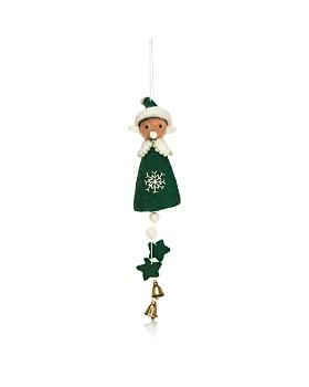 TO THE MARKET - Felt Elf Jingle Bell Ornament