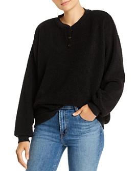 Donni - Sherpa Henley Sweatshirt