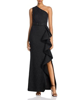 Rebecca Vallance - Greta Ruffled One-Shoulder Gown