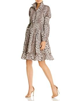 Notes du Nord - Maxine Leopard-Print Smocked Dress