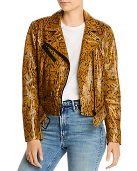Notes du Nord - Mercy Snakeskin-Embossed Leather Jacket