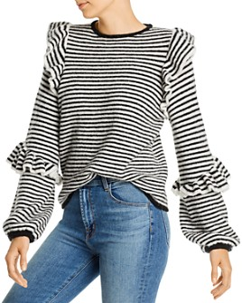 Notes du Nord - Monica Striped Ruffle Top