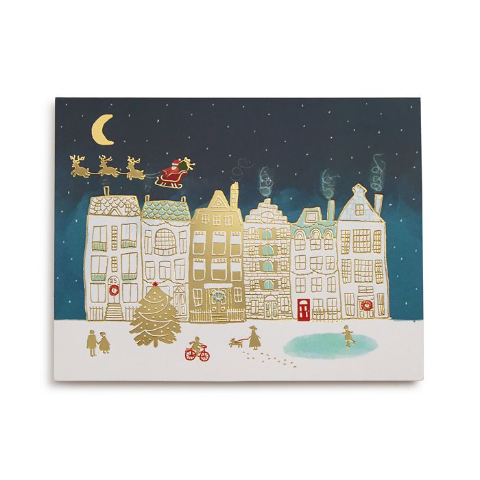 Design Design - Over The Rooftops Greeting Card, Box of 20