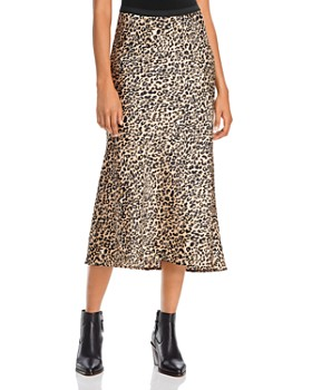 FRENCH CONNECTION - Leopard-Print Midi Skirt
