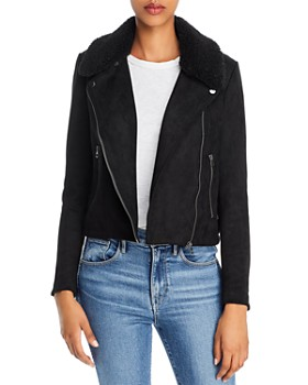 FRENCH CONNECTION - Amaranta Faux-Shearling Moto-Inspired Jacket