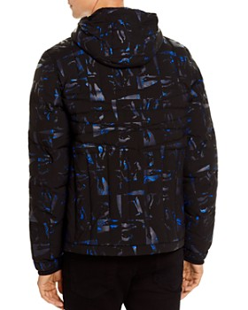 KARL LAGERFELD Paris - Geometric-Quilted Hooded Jacket