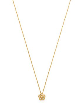 "Roberto Coin - 18K Yellow Gold Daisy Diamond Pendant Necklace, 17.5"" - 100% Exclusive"