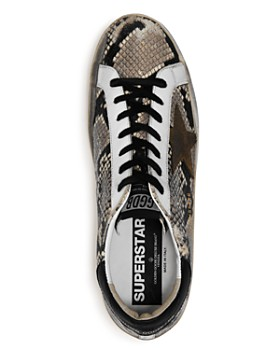 Golden Goose Deluxe Brand - Men's Superstar Snake Print Leather Sneakers