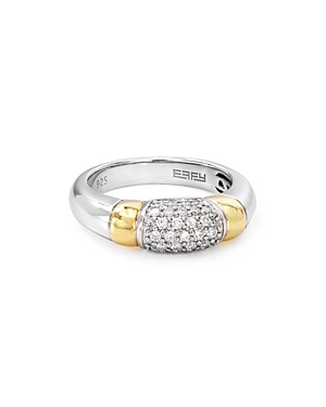 Bloomingdale's Marc & Marcella Pave Diamond Ring in Sterling Silver & 14K Gold-Plated Sterling Silve