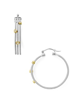 Bloomingdale's - Diamond Earrings in 14K Gold-Plated Sterling Silver & Sterling Silver, 0.11 ct. t.w. - 100% Exclusive