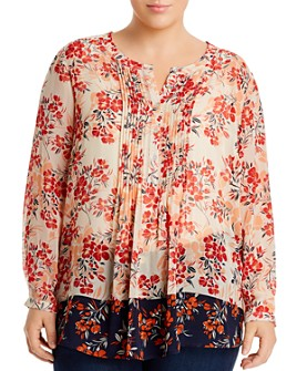 Daniel Rainn Plus - Floral-Print Top
