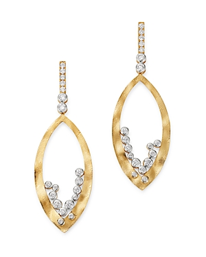 Bloomingdale's Diamond Drop Earrings in 14K Textured Yellow Gold, 1.0 ct. t.w. - 100% Exclusive