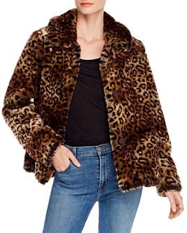 MKT Studio - Miniloo Faux Fur Leopard-Print Coat