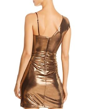 BCBGMAXAZRIA - Bronze Lamé Cocktail Dress