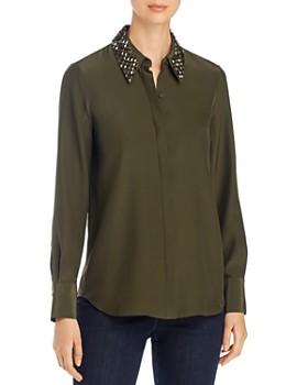Lafayette 148 New York - Julianne Embellished Collar Silk Blouse