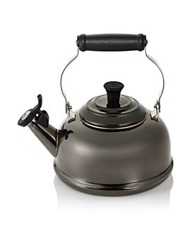 Le Creuset - Le Creuset 1.8 Quart Whistling Tea Kettle, Black Nickel