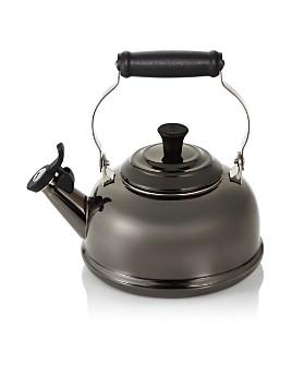 Le Creuset - Le Creuset 1.8 Quart Whistling Tea Kettle, Black Nickel
