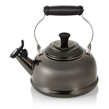 Le Creuset - 1.8 Quart Whistling Tea Kettle, Black Nickel