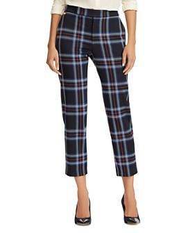 Ralph Lauren - Plaid Jacquard Cropped Pants