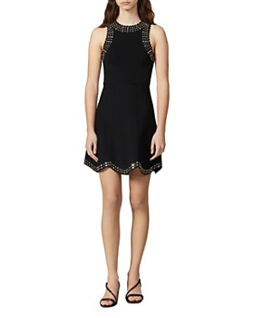 Sandro - Jenn Scalloped Studded Mini Dress