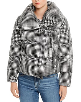 Bacon - Puffa Houndstooth Short Down Coat