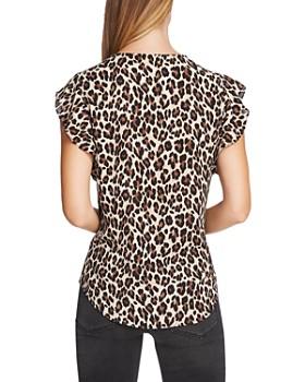 VINCE CAMUTO - Flutter Sleeve Leopard Print Top