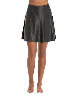 SPANX® - Faux Leather Skater Skirt