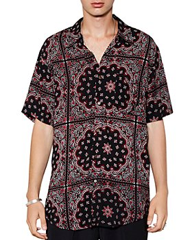 The People Vs. - Stevie Short-Sleeve Medallion-Print Regular Fit Shirt