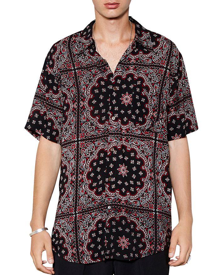 The People Vs. Stevie Short-sleeve Medallion Print Regular Fit Shirt In Bandana