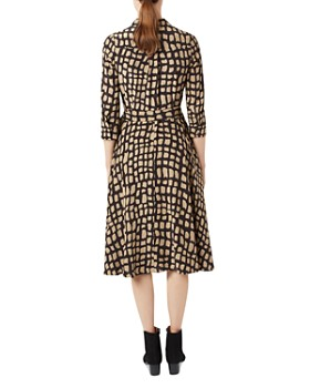 HOBBS LONDON - Lainey Animal-Print Shirt Dress