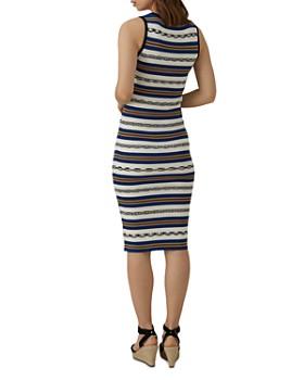KAREN MILLEN -  Striped Knit Midi Dress