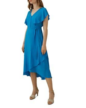 KAREN MILLEN - Fluid Draped Faux-Wrap Dress