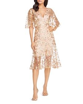 Dress the Population - Roseanna Metallic Floral Midi Dress