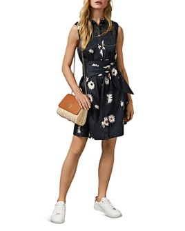 Ted Baker - Ertta Daisy-Print Belted Dress