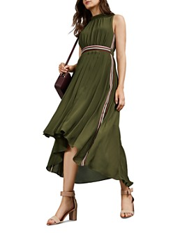 Ted Baker - Leaah Striped High/Low Midi Dress